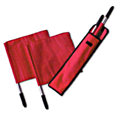 Tandem Sports Deluxe Volleyball Linesman Flags with Carrying Bag for 4 Flags