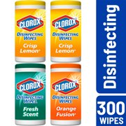 Clorox Disinfecting Wipes Value Pack, Bleach Free Cleaning Wipes - 75 ct Each (Pack of 4)