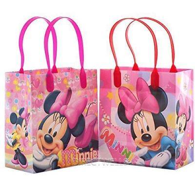 Adult Loot Bags (12PCS Disney Minnie Mouse Goodie Party Favor Gift Birthday Loot Bags Licensed ! )