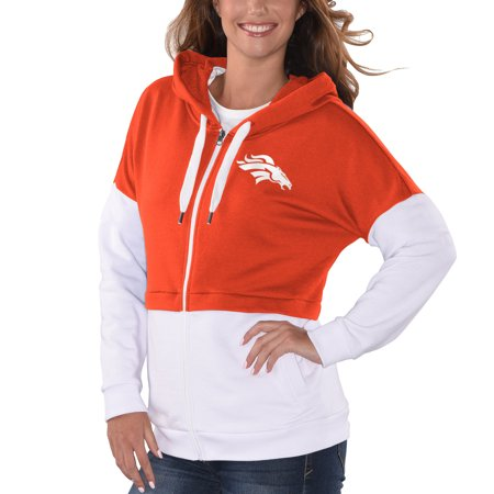 9fa6405b Denver Broncos G-III 4Her by Carl Banks Women's Game Changer Pullover  Hoodie - Orange/White