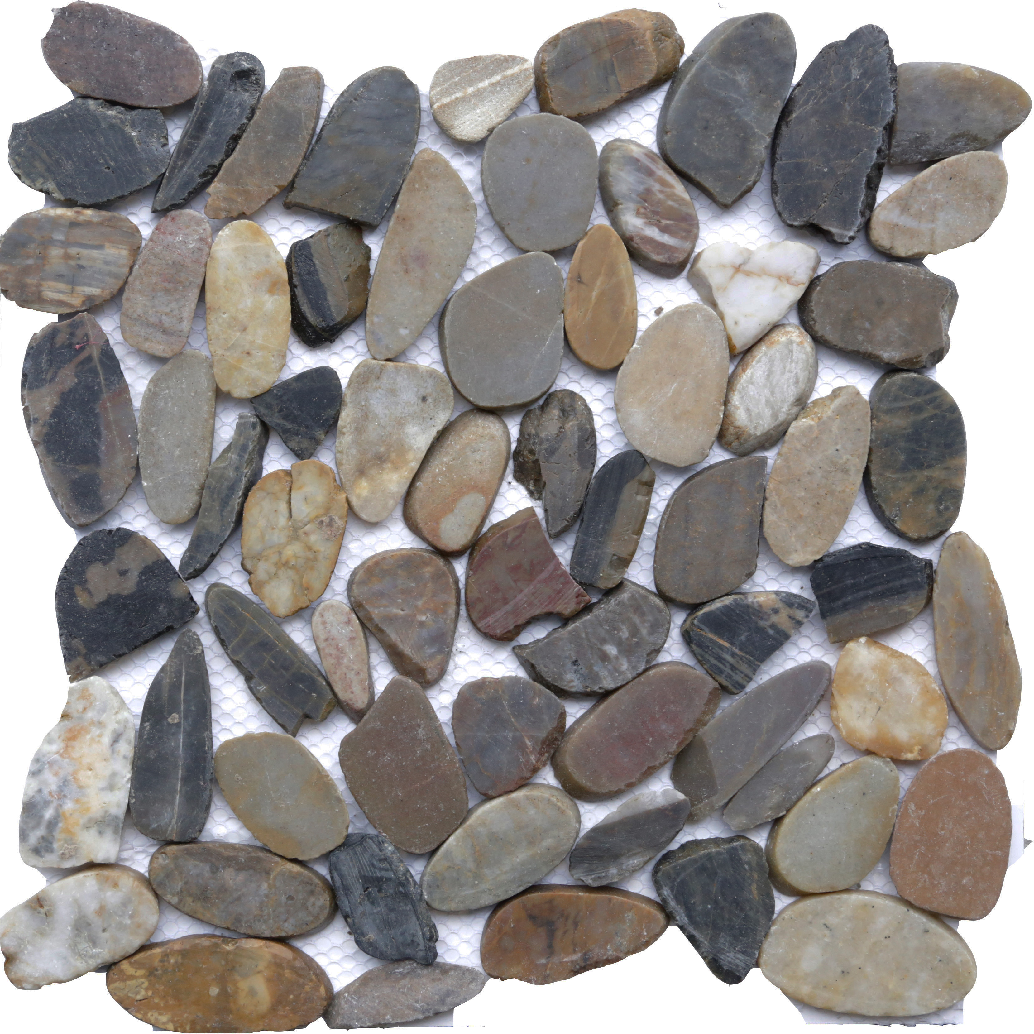 Autumn Mosaic 12 in. x 12 in. Sliced Natural Pebble Stone Floor and Wall Tile (10 sq. ft. / case)