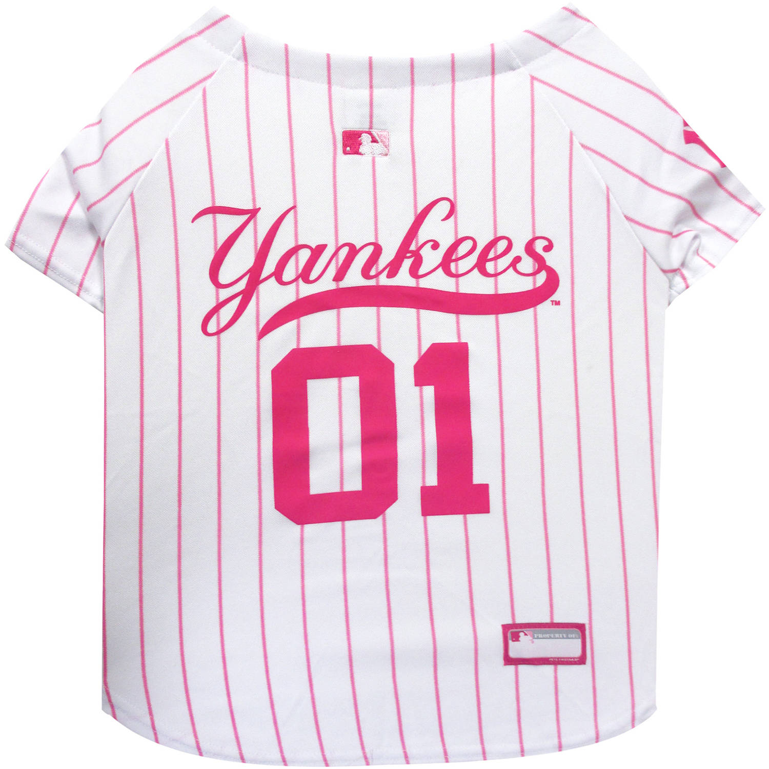 Pets First MLB New York Yankees Pet Pink Jersey, X-Small