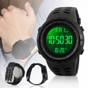 TSV Mens Military Multifunction Digital Watch - Electronic Waterproof Alarm Quartz Sports Watch Outdoor Wrist Watch with Alarm, Stopwatch, Calendar Date Window &  EL Back Light Display