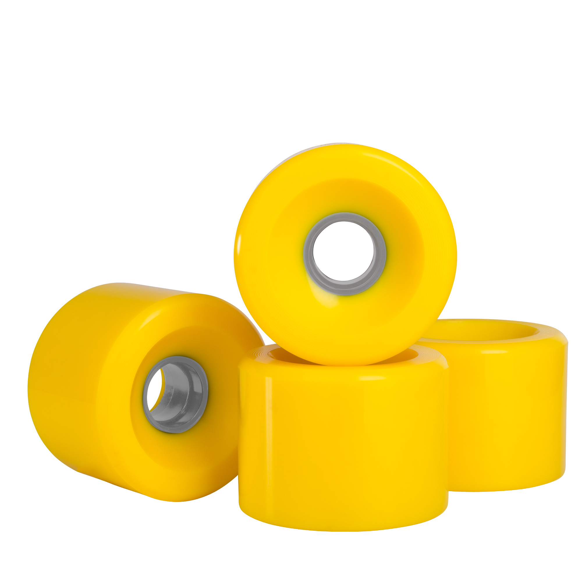 Cal 7 Polyurethane Skateboard Wheels for Street and Park 60x44mm 83A (Solid White)
