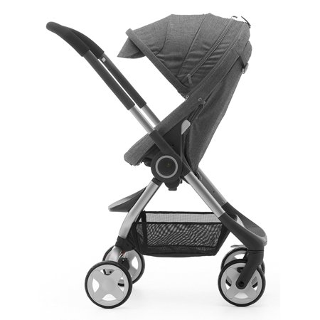 Stokke SCOOT V1 Baby Stroller in Black (Stokke Footmuff)