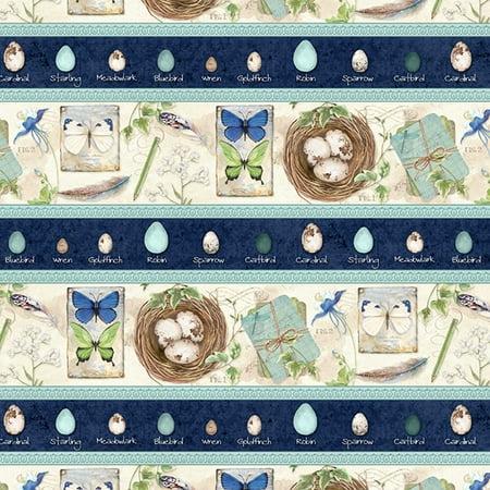 - wilmington prints nature study multi repeating stripe