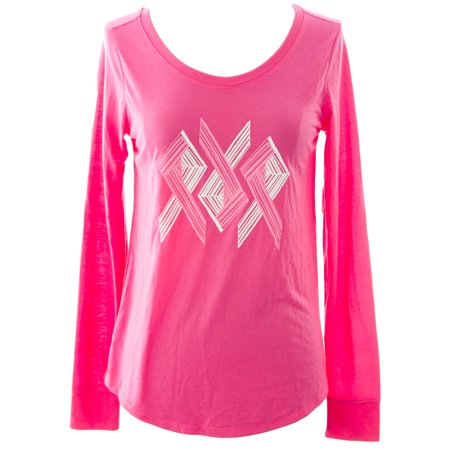 Under armour women 39 s power in pink long sleeve ribbon t for Under armour shirts at walmart