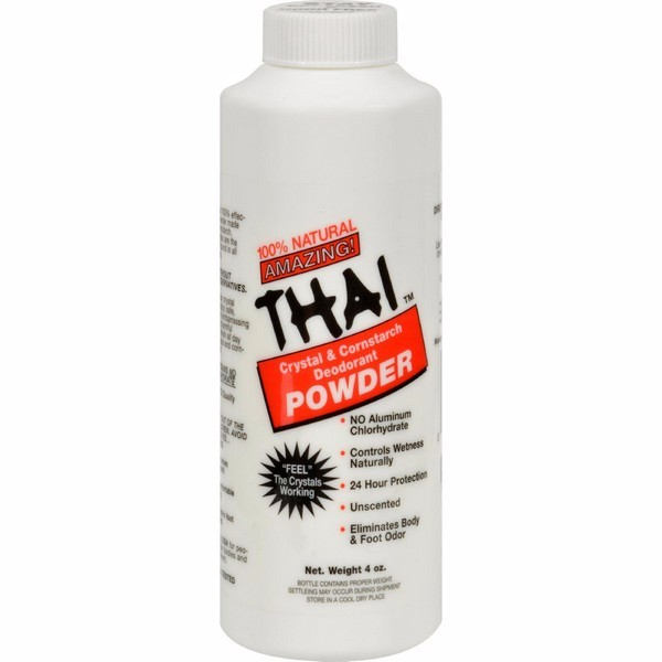 Thai Deodorant Stone Crystal And Corn Starch Deodorant Body Powder - 3 Oz - image 1 de 1