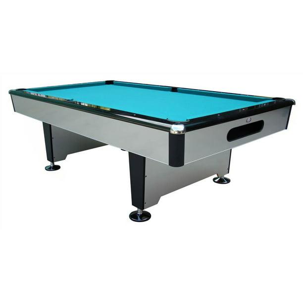 Silver Knight 8 ft. Slate Pool Table (Drop Pockets) - Walmart.com