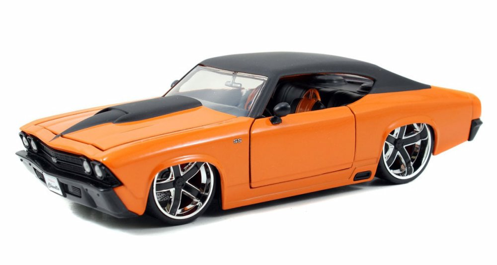 1969 Chevy Chevelle SS, Orange w  Black Top Jada Toys 90056 1 24 scale Diecast Model Toy... by Jada