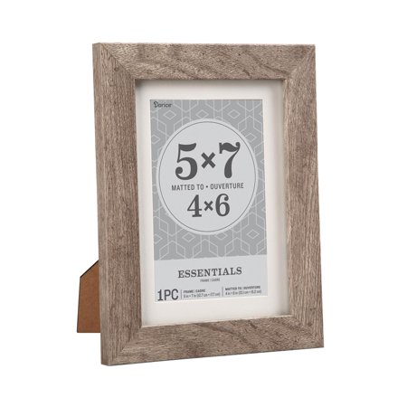 Essentials Picture Frame: Grey, 5 x 7 or 4 x 6 with - 4 X 6 Frames