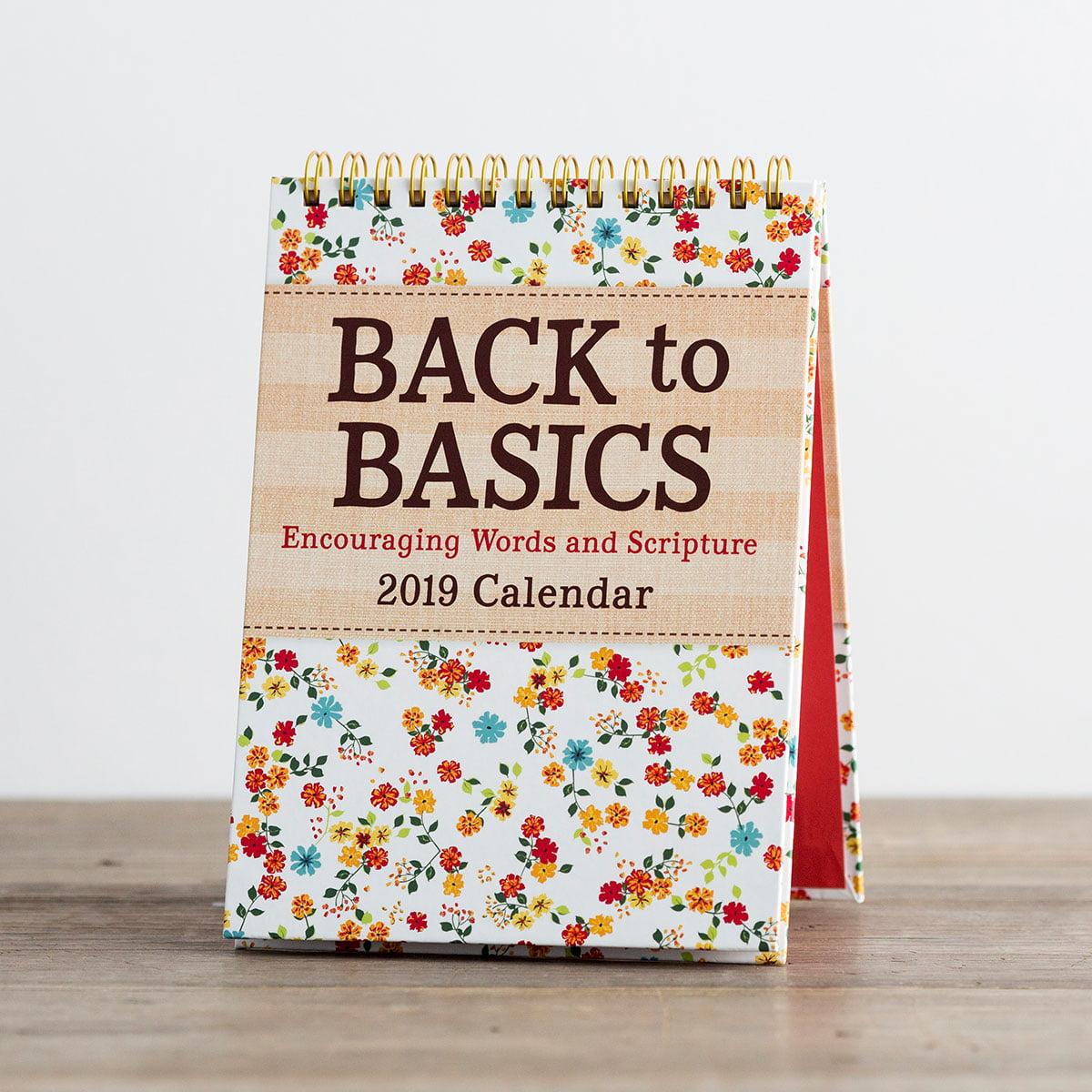 DaySpring  -  DaySpring - Back to Basics - 2019 Desktop Calendar