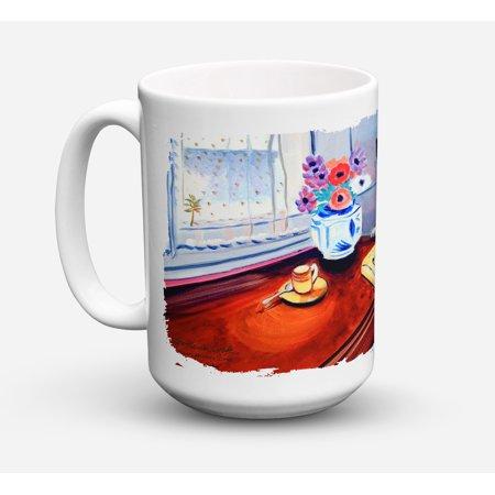 Bull Terrier Dishwasher Safe Microwavable Ceramic Coffee Mug 15 ounce 7249CM15