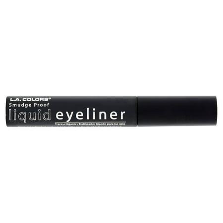(2 Pack) L.A. Colors Smudge Proof LER701 Black Liquid Eyeliner, 0.25 fl (Best Eyeliner Doesn T Smudge)