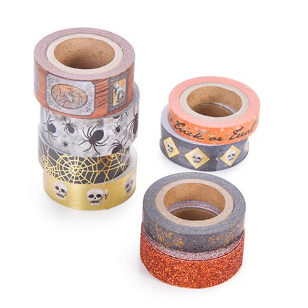 Darice Washi and paper tape Martha Stewart Crafts Halloween Orange Washi Tape Assorted Styles for $<!---->