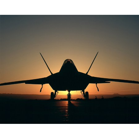- Canvas Print Airplane Jet Military Aircraft Silhouette Sunset Stretched Canvas 10 x 14