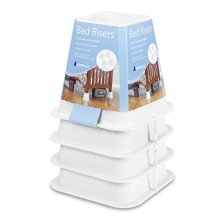 Whitmor Bed Risers White Set of 4