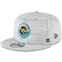 Jacksonville Jaguars New Era 2020 NFL Sideline Official 9FIFTY Snapback Adjustable Hat - Gray - OSFA