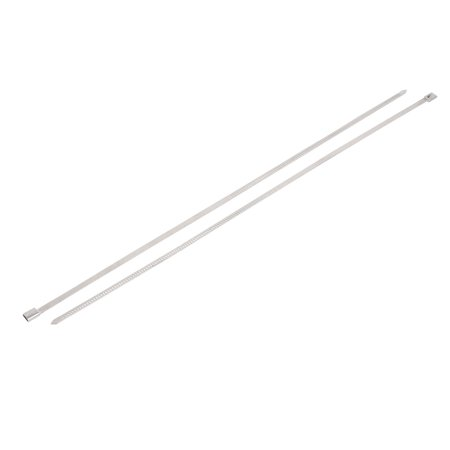 15pcs 4.5mm Width 350mm Length Stair Type Stainless Steel Cable Tie Silver Tone - image 3 de 4