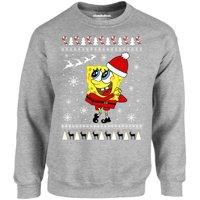 SpongeBob Christmas Sweaters for Men SpongeBob Sweatshirts Xmas Pattern Sweatshirt
