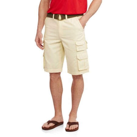 081e915dfc Faded Glory - Men's Belted Stacked Cargo Short - Walmart.com