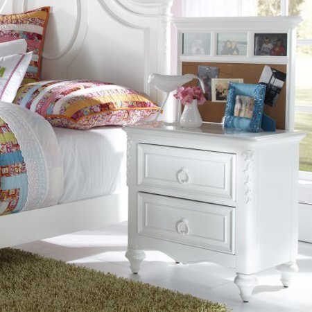 SweetHeart 2 Drawer Nightstand - White