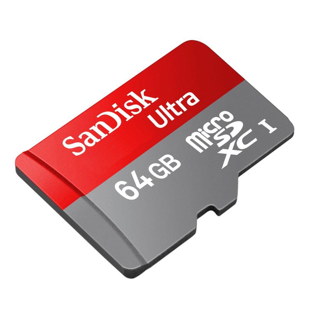 SanDisk Ultra 64GB Class 6 Camera & Cell Phone microSDXC Memory Card w/Adapter