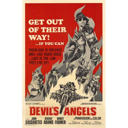 Halloween Costumes Devil And Angel (Devil's Angels POSTER Movie Mini)