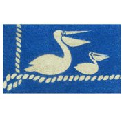 Momentum Mats Pelicans Blue Coir Vinyl Backing Doormat (1'5 x 2'5)