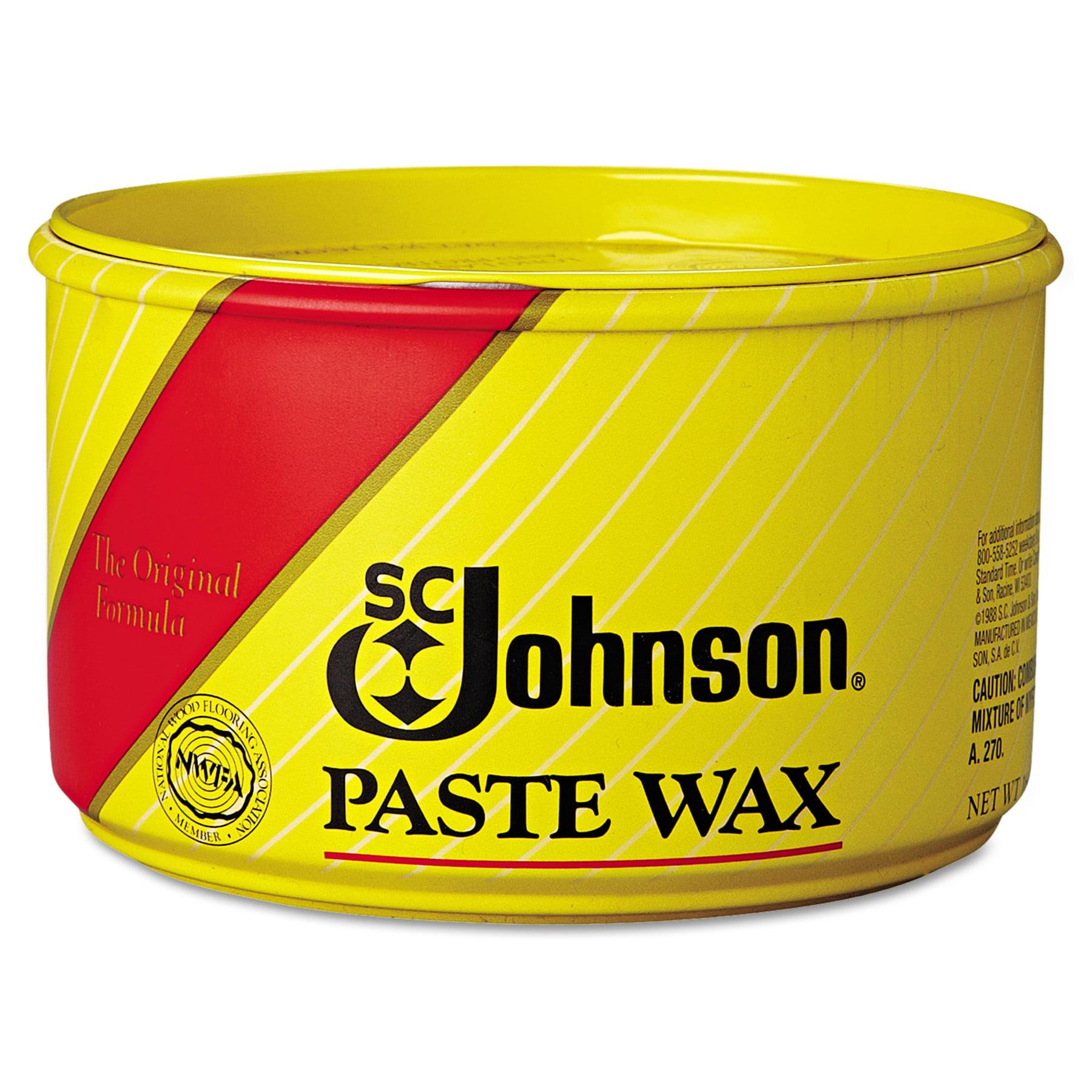 SC Johnson Paste Wax, Multi-Purpose Floor Protector, 16oz...