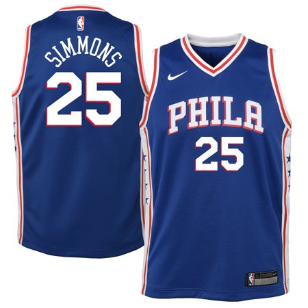 the best attitude 1fc34 951fe Youth Philadelphia 76ers Ben Simmons Nike Blue Swingman Jersey - Icon  Edition-Yth XL