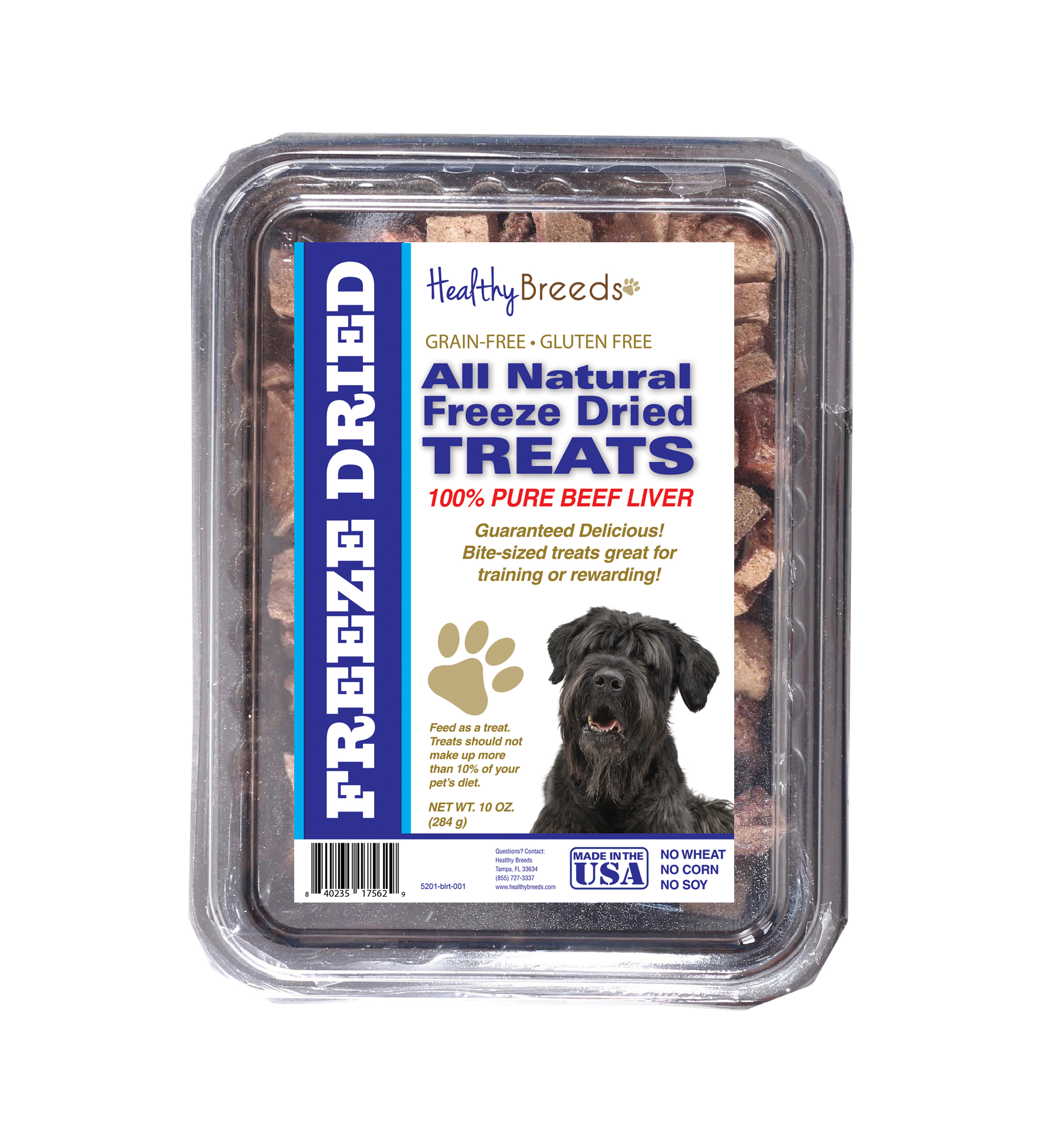 Healthy Breeds Black Russian Terrier All Natural Freeze Dried Treats Beef Liver 10 oz