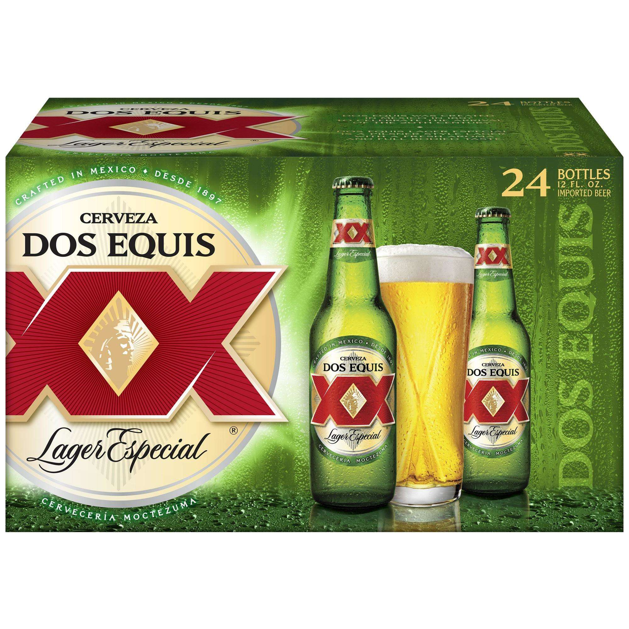 Cerveza Dos Equis Lager Especial Mexican Beer, 24-Pack 12 Oz. Bottles