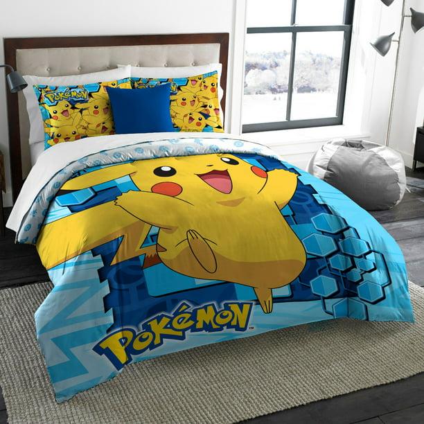 Twin Full Big Pika Comforter Set, Pokemon Bedding Queen Size