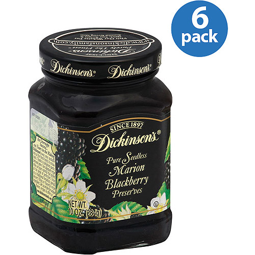 Dickinson's Pure Seedless Marion Blackberry Preserves, 10 oz, (Pack of 6)