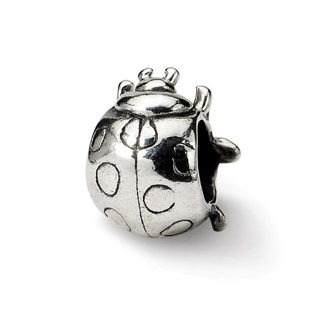 Reflection Beads QRS1194 Sterling Silver Ladybug Bead - image 1 de 1