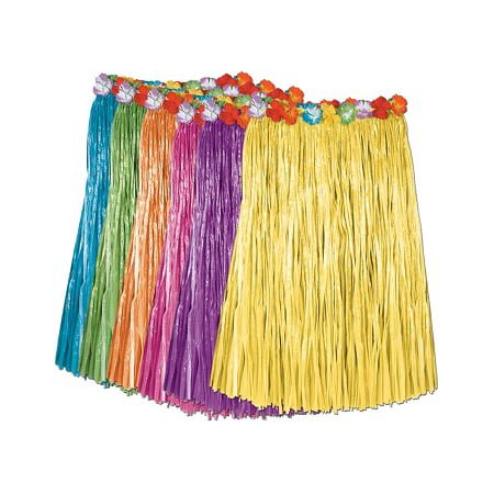 Ddi Child Artificial Grass Hula Skirt W/floral Waistba
