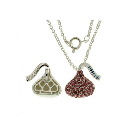 - Hershey Kiss Light Pink  Charm Pendant With Chain 18