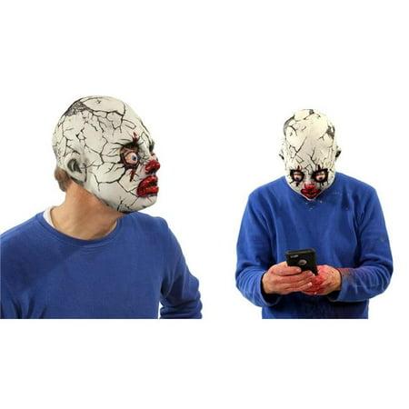 Zagone Studios N1037 Zagone Studios Creepy Evil Cracked Clown Mask for $<!---->