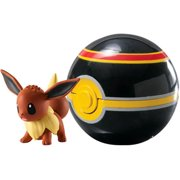 Pokemon Clip n Carry Pokeball Eevee & Luxury Ball Figure Set