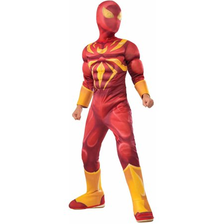 Deluxe Iron Spider Child Halloween Costume - When Did Halloween Start For Kids