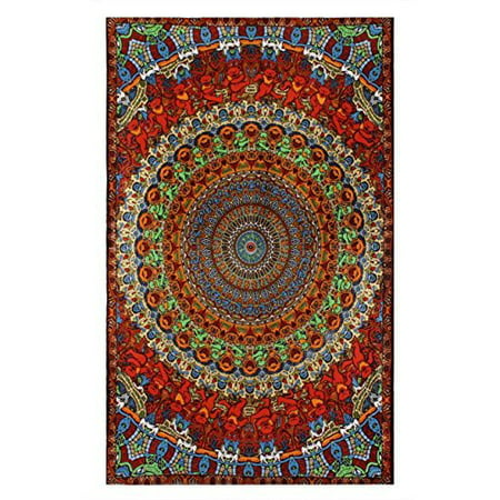 Sunshine Joy Grateful Dead 3D Psychedelic Bear Tapestry Tablecloth Wall Art Beach Sheet Huge 60x90 Inches - Amazing 3D (Psychedelic Bear)