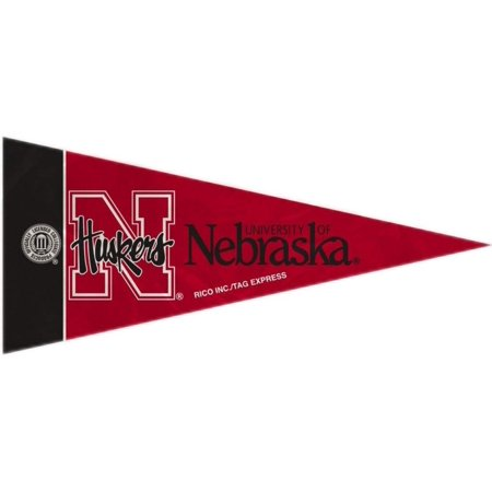 Nebraska Cornhuskers Mini Pennants - 8 Piece Set, Officially licensed By Rico Industries