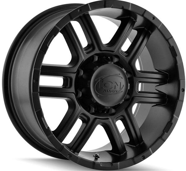 "16"" Inch Ion 179 16x8 5x127(5x5"") +10mm Matte Black Wheel Rim"