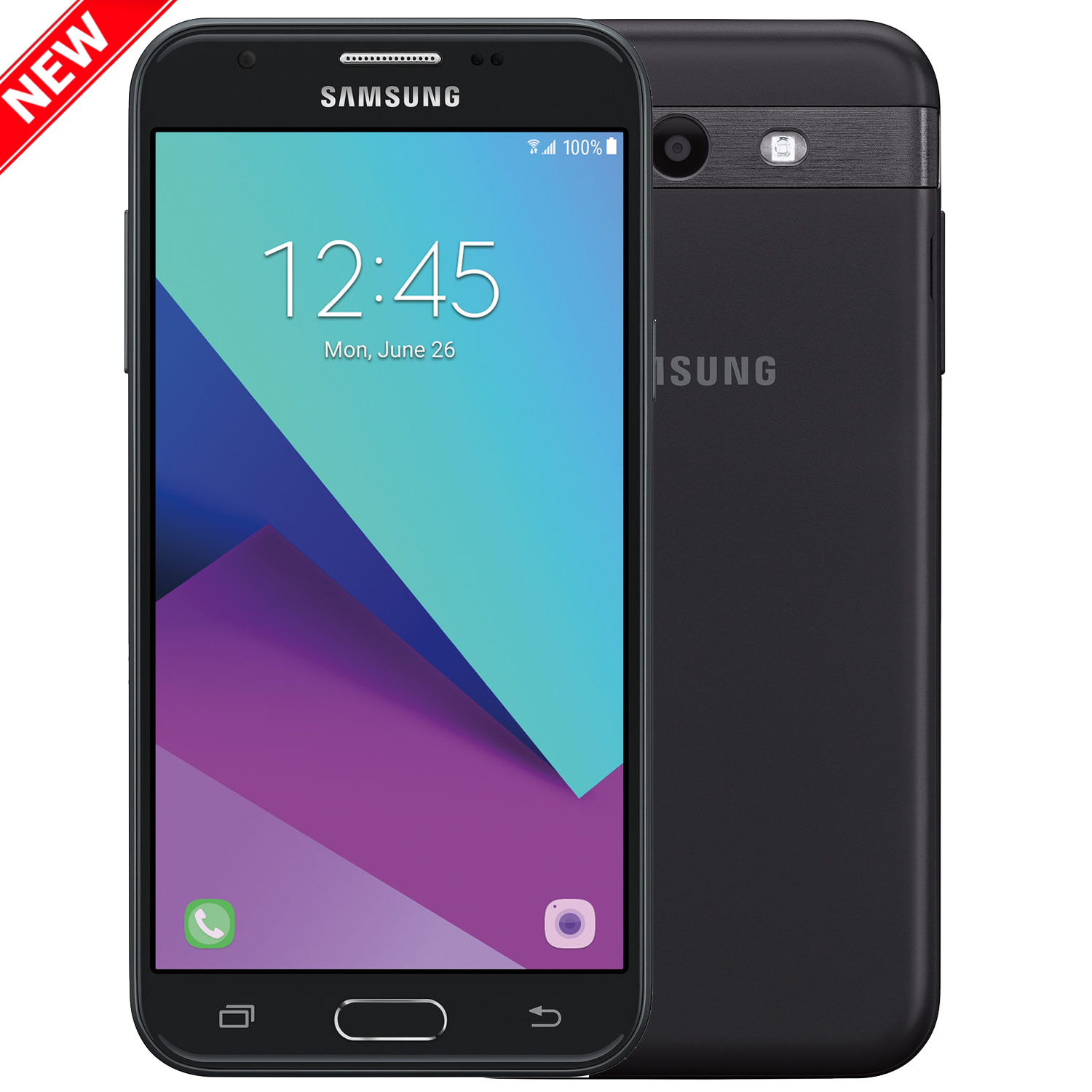 "New Galaxy Express Prime 2 16GB J327A GSM Unlocked 4G LTE 5"" TFT Capacitive touchscreen 1.5GB RAM 5MP Smartphone by Samsung  - Black - USA Warranty"