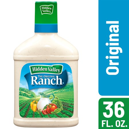 Hidden Valley Original Ranch Salad Dressing & Topping, Gluten Free, Keto-Friendly - 36 oz Bottle