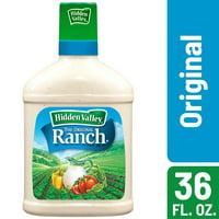 Hidden Valley Original Ranch Salad Dressing & Topping, Gluten Free, Keto-Friendly - 36 Ounce Bottle
