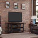 "Bell'O Saddleback Brown Oak Stand for up to 65"" TVs"