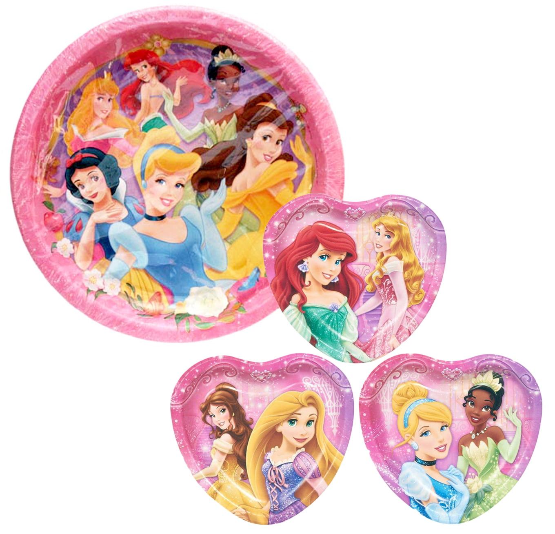 Disney Princess Birthday Party Paper Plates - 48CT Bundle