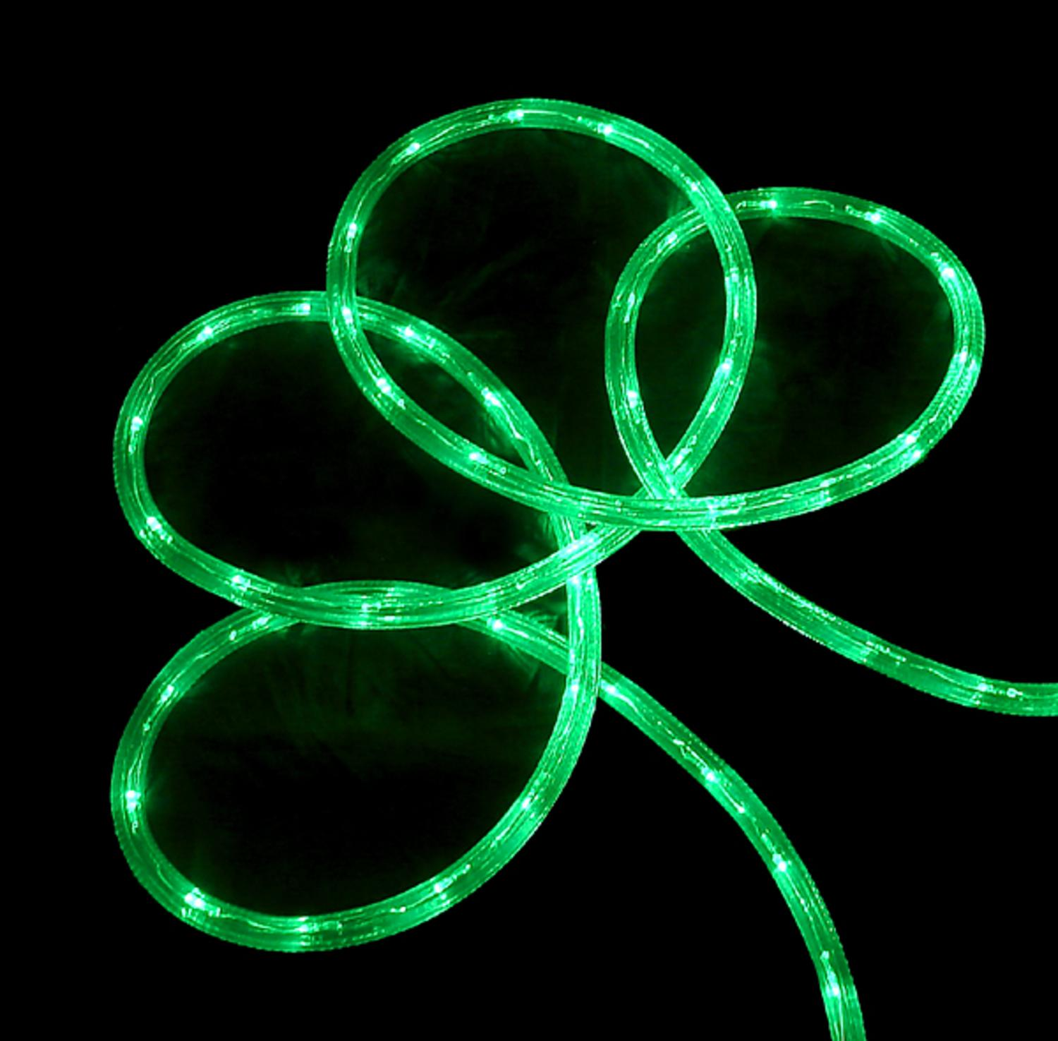 150' Commericial Grade Green LED Indoor/Outdoor Christmas Rope Lights on a Spool